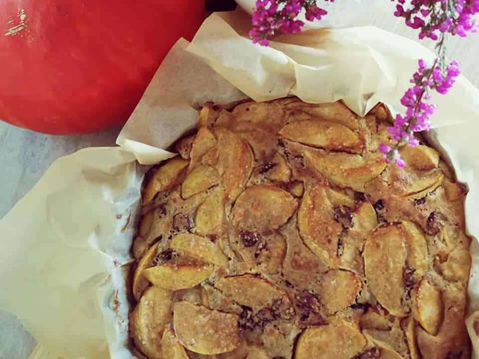 Obuolių pyragas su spanguolėm receptas sveikas desertas