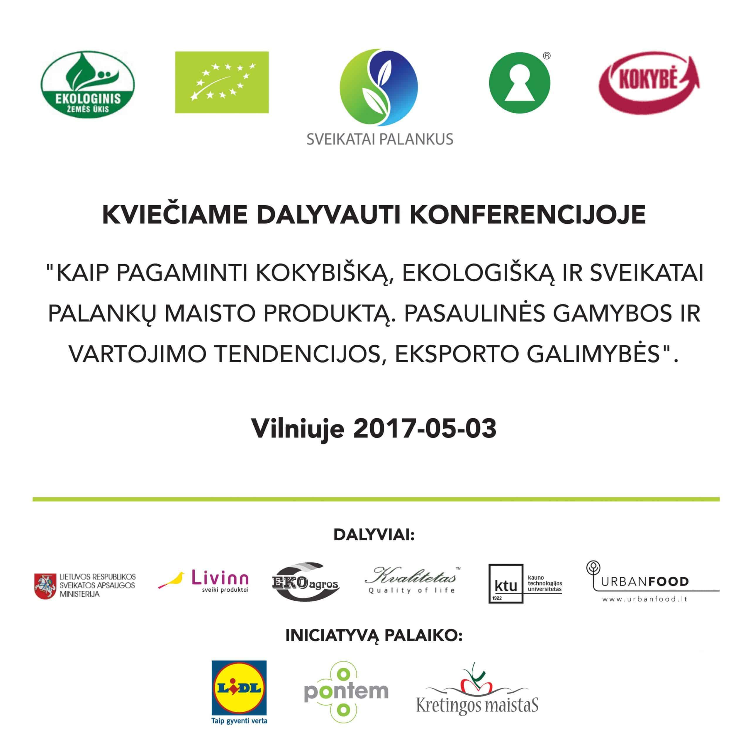 konferencija ekologiškas maistas