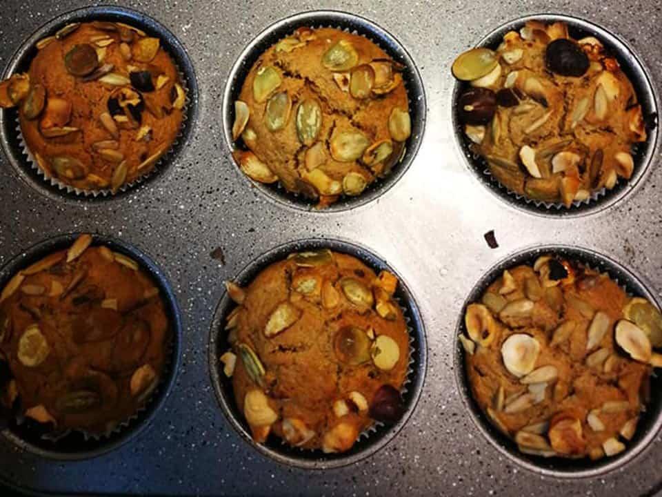 Kriaušių keksiukai receptas sveikas desertas