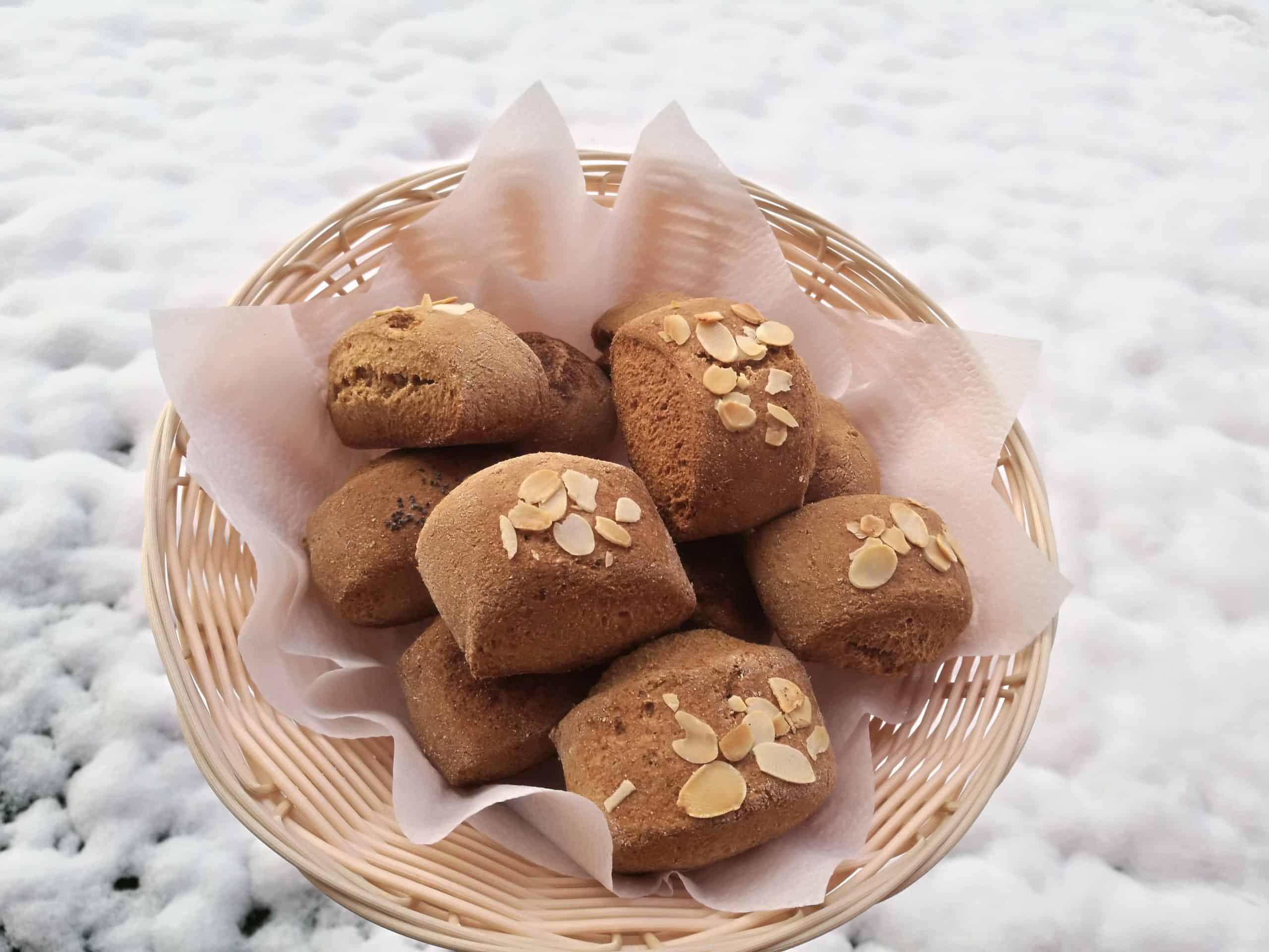 Viso grūdo speltos saldžios bandelės su kefyru receptas sveikas užkandis