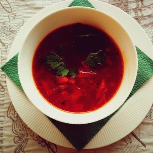 vištienos sultinio burokėlių sriuba sveikas receptas sveiki pietūs vakarienė