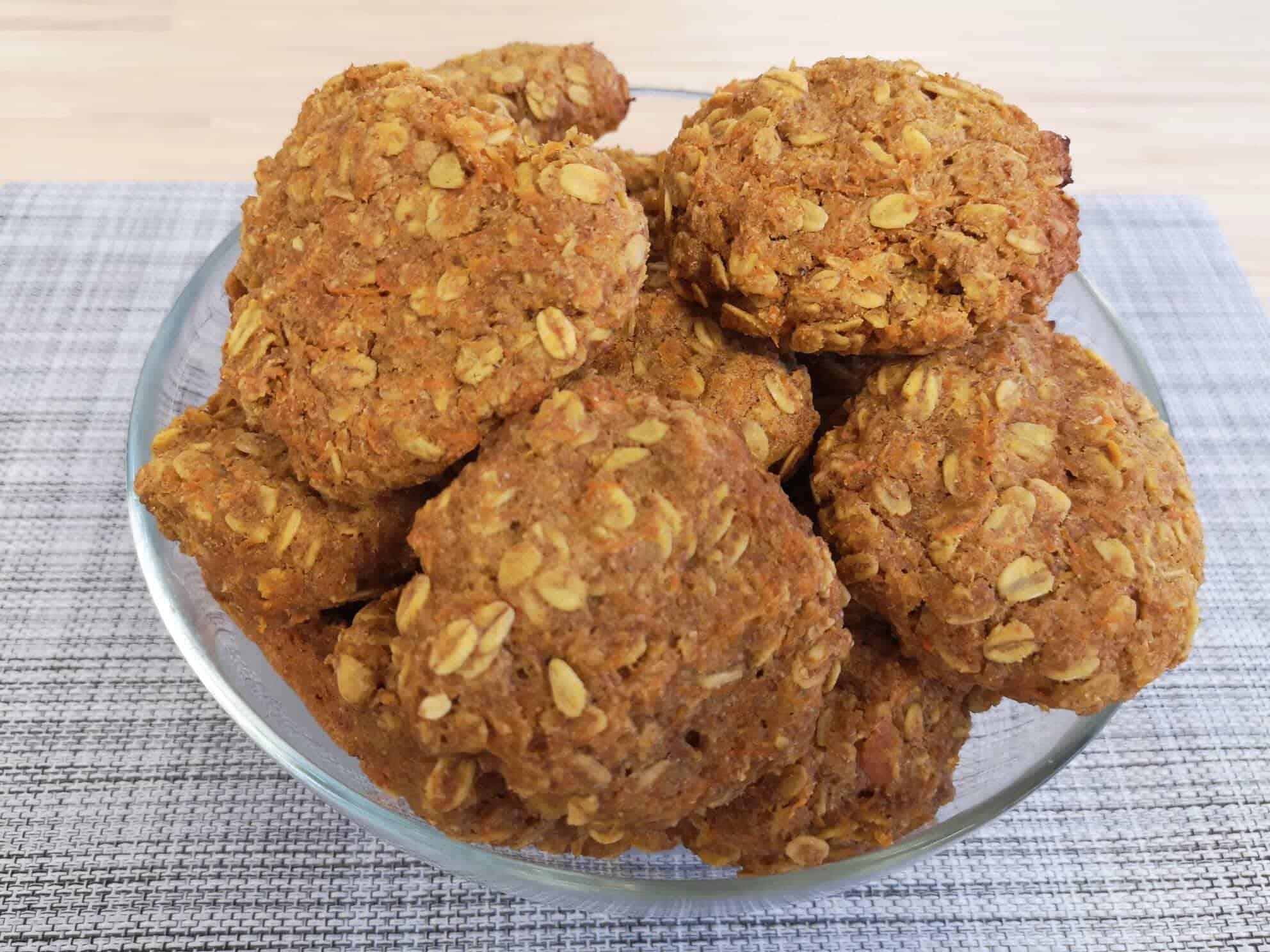 Avižiniai sausainiai su morkomis sveikas desertas receptas
